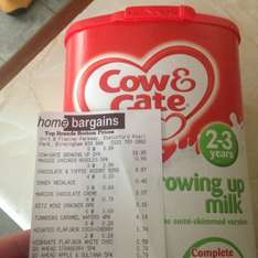 Cow & Gate Growing up milk @ home bargains - £3.99