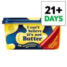 I Can't Believe It's Not Butter Original or Light 500g, Half Price 82p from Weds 25th June @ Tesco.