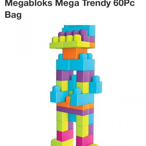 Megabloks mega trendy 60pc bag £6.36 Free C&C or £2.95 Del.  @ Asda
