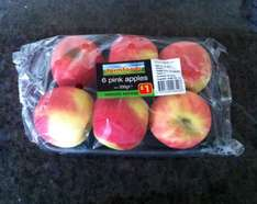 Pink Lady Apples x 6 for £1.00 @ FarmFoods