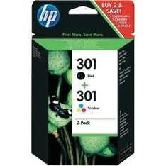 HP ink 301, colour and black duo pack £14.63 delivered @ Global Ape