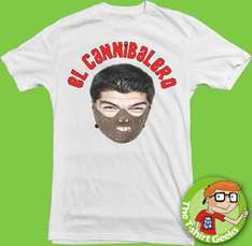 Suarez T-Shirt complete with next seasons muzzle!!! £19.99 @ ebay / jenna84liverpool