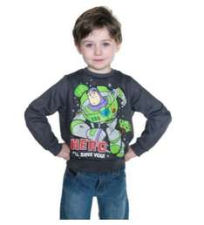 Buzz Lightyear Boys' Grey Sweatshirt (18 Months - 5 Years) - £2.69 - Argos