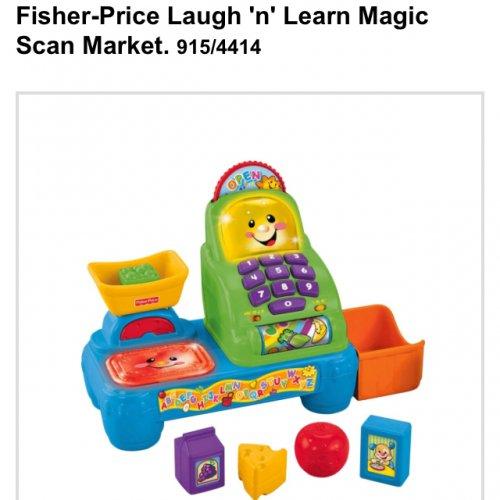 Fisher price laugh n learn magic scan market £9.99 @ Argos