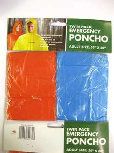 2 x Poncho in time for Festivals - £1.40 Delivered sold by eBuyGB (Amazon)