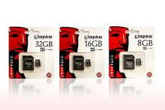 Kingston Micro SD card from £2.50  plus £1.99 delivery @ Groupon