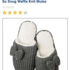 So Snug Waffle Knit Mules  Slippers £3.60 @ boots