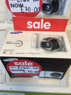 Samsung WB250F Digital SMART Camera down to £70 in store at ASDA, Southbank Middlesbrough