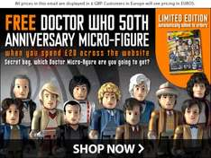 FREE Doctor Who Micro Figures Anniversary Blind Bag with orders £20 or more @ BBC Shop