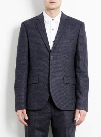 Premium Charcoal Jacquard Skinny Fit Suit £50 @ Topman