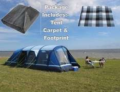 Kampa Filey 6 air tent package inc carpet & footprint £799.99 From Highbridge Caravans