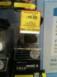 Jabra Clipper: Bluetooth Stereo Headset reduced to £10.00 @ Tesco Instore