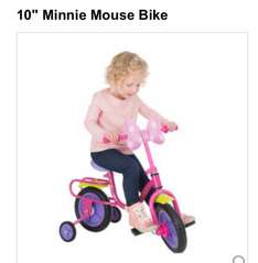 Minnie Mouse girls bike half price £14.96 @ toysrus