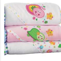 Pink hooded towels - 3 pack from toys r us £4.96 free c&c