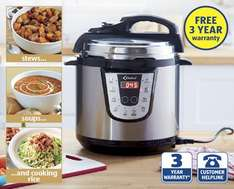 2.2L Electric Multi-Cooker with 3 yrs warranty from 10th £34.99 at Aldi