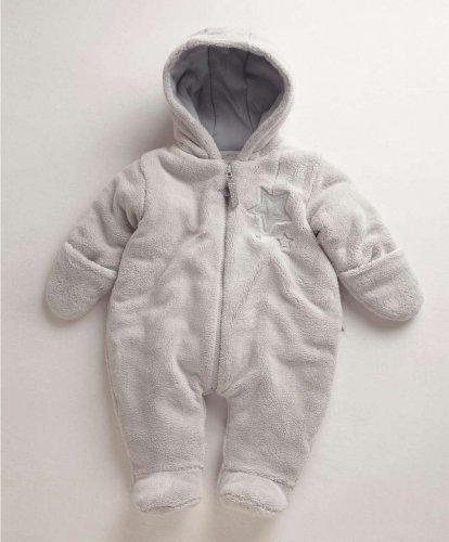 Unisex grey faux fur pram suit free c&c £10.00 @ Mamas & Papas