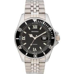 Sekonda Submariner Homage Men's Black Dial Bracelet Watch.  £24.99 - ARGOS