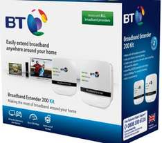 BT Smart TV Broadband Extender 200 Powerline Adapter Kit Twin Pack - Delivered £9.99 with Code @ Currys