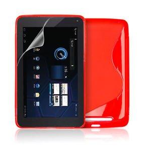Red S Line Wave Gel Case Cover For Google Nexus 7 + Screen Protector 99p @ Ebay / ddddadi