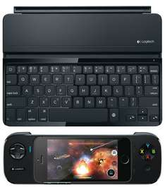 Logitech Ultrathin Keyboard Cover for iPad Air + Logitech PowerShell Gaming Controller for iPhone 5/5S/iPod Touch - Black - £59.99 @ John Lewis