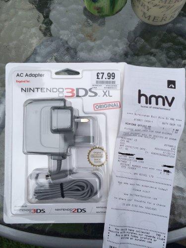 Nintendo 3DS Original Charger @ HMV £7.99