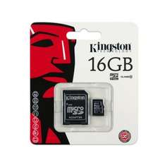 Kingston 16GB Class 10 microSDHC Card + SD Adapter for £5.15 @ MobyMemory