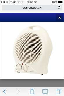£5.97 Crown Vertical Fan heater delivered from Currys