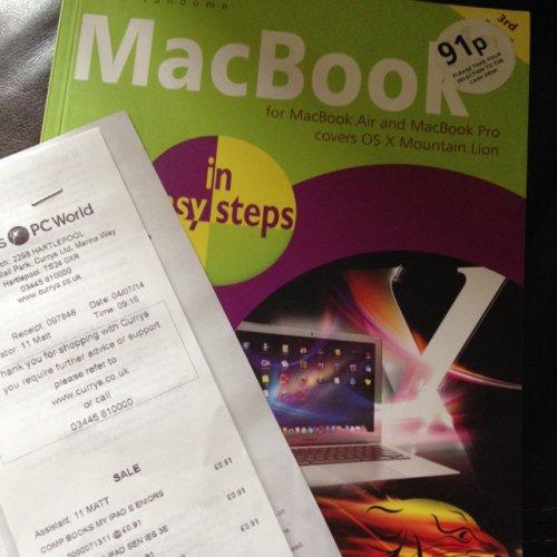MacBook in easy steps - 91p instore @ Currys