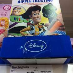 Toy Story chocolate and orange ripple frosting at Asda 50p