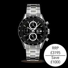 Tag Heuer Carrera £1000 off £2195.00 @ Goldsmiths