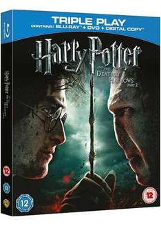 Harry Potter And The Deathly Hallows - Part 2 - Triple Play (Blu-Ray & DVD & Digital) @ Base - £3.89