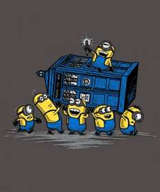 Exclusive MINION Designs (Despicable Me) T-shirts (Male / Female / Kids) - Deal ends 11pm Today - @ Qwertee - £10.50 each Delivered