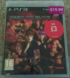 Dead Or Alive 5, Ps3, £3, Game, New, Instore