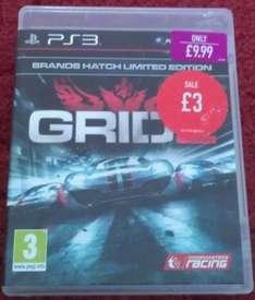 Grid 2: Brands Hatch Limited Edition, Ps3, £3, Game, New, Instore