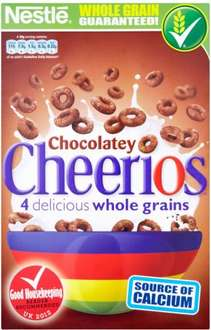 Nestle Cheerios Chocolatey Cereal (330g) was £2.49 now £1.24 @ Tesco