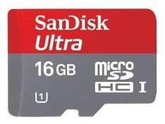 16GB SanDisk Ultra microSDHC Card and Adapter @ ebuyer £7.59