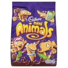 Cadbury's Animals Mini Snack Pack / Cadbury's Mini Fingers Snack Pack / Cadbury's Jumbo Animals,  85p each @ Tesco