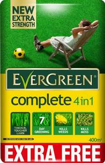 EverGreen 360sqm Complete 4-in-1 Lawn Care, Lawn Food, Weed and Moss Killer Bag  £18.49 @ Amazon