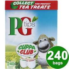 PG Tips Pyramid Teabags 240s 750g sold by Cooking Marvellous. @ Amazon sold by Cooking Marvellous.  £42.99 + £7.99 shipping
