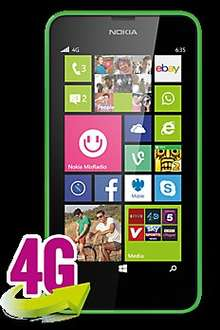 Nokia Lumia 635 on Pay Monthly (Contract) Upgrade for £99.95 effective £0 after trade-in @ CPW