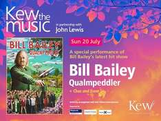 Save 40% 2 Tickets To See Bill Bailey at Kew The Music Outdoor Picnic Concert on 20/7/14 (Kew Gardens) Supported By The Legendary Chas & Dave through Amazon Local £50