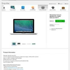 Refurbished MacBook Pro from £829 @ Apple