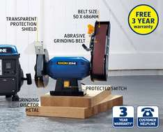bench grinder and sanding belt £29.99 @ Aldi