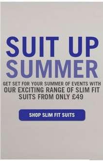 Suits from £49 @ Slaters