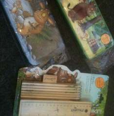 Gruffalo filled pencil cases/paints £2.50/2.75 instore @ Clintons
