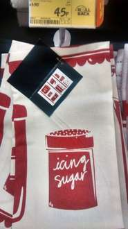 Red and white teatowel 45p @ Asda instore