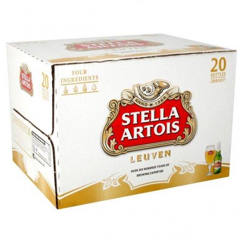 Budweiser Bottles 20 x 300ml - Stella Artois Bottles 20 x 284ml £10 @ Morrisons (50p a bottle)