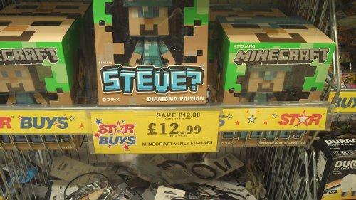 minecraft figures £12.99 @ home bargains