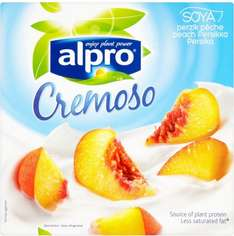 Alpro Cremoso Soya Yogurts (Cherry or Peach (Pack of 4 x 110g) was £1.80 now £1.00 @ Sainsbury's