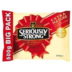 Seriously Strong Mature & Extra Mature Cheddar Cheese (500g) was £5.74 now 2 packs are £7.00 so (1Kg) for £7.00 @ Asda